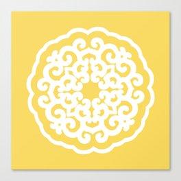 Pale Yellow Asian Moods Mandalla Canvas Print