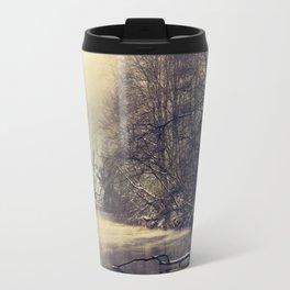 winter on the river Travel Mug