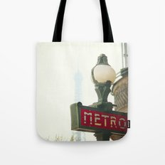 Metro in Paris Tote Bag