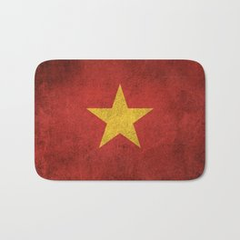 Old and Worn Distressed Vintage Flag of Vietnam Bath Mat