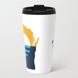Wisconsin - People's Flag of Milwaukee Travel Mug