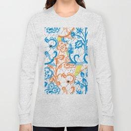 Cobwebbed Flower Lace Pattern Long Sleeve T-shirt