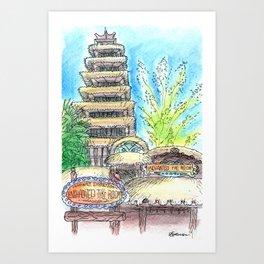 Enchanted Tiki Room Art Print