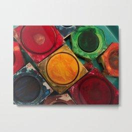 Artists Watercolor Paint Box Palette Metal Print