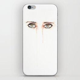Her Eyes, Minimalist watercolor female eyes, NYC artist iPhone Skin