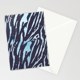Tiger Blue Watercolor Gradient Stationery Cards