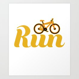 Stay active and creative at the same time with this Mountain Bike Tee! Have yours now! Art Print