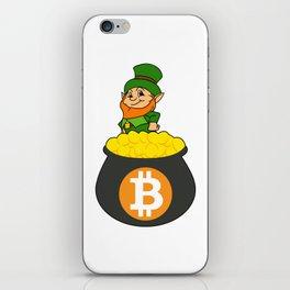 Leprechaun Bitcoin Pot Of Gold St Patricks Day HODL iPhone Skin