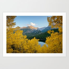 BEAR LAKE COLORADO AUTUMN ROCKY MOUNTAIN NATIONAL PARK FALL LANDSCAPE PHOTOGRAPHY Art Print