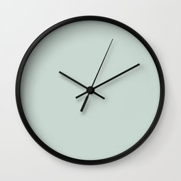 Ultra Pale Pastel Blue Green - Light Aqua Solid Color Parable to Valspar Distant Valley 5002-3A Wall Clock