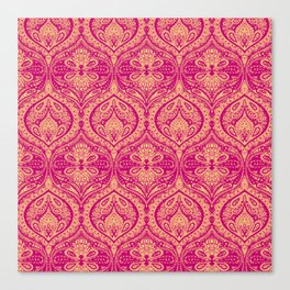 Simple Ogee Pink Canvas Print