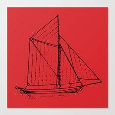 Eka Red Canvas Print
