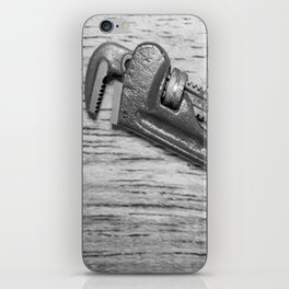 Pipe Wrench - BW iPhone Skin