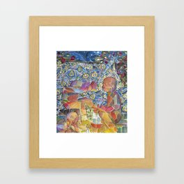 Jesus Washes His Disciples Feet Framed Art Print
