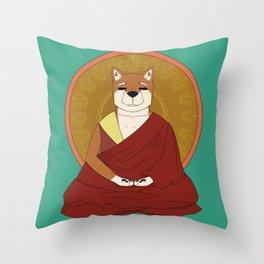 Dalai-Shiba Throw Pillow