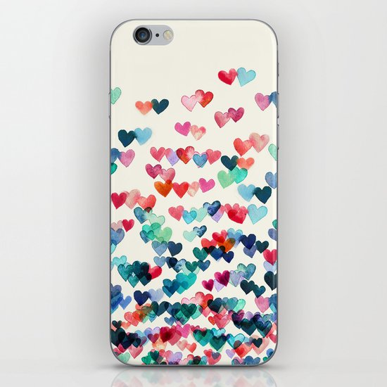 Heart Connections - watercolor painting iPhone & iPod Skin
