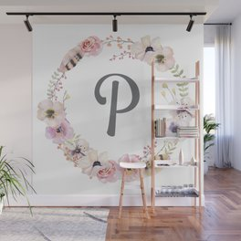 Floral Wreath - P Wall Mural