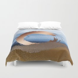 Inspiration: Gold, Copper And Blue Duvet Cover