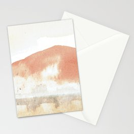 Terra Cotta Hills Abstract Desert Mountain Landsape with Watercolor Stationery Cards