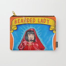 Bearded Lady Sideshow Banner Carry-All Pouch
