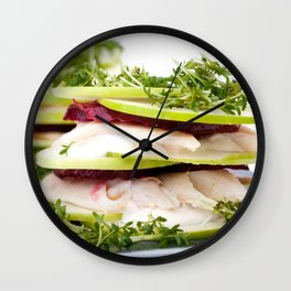 Apple and trout appetizer Wall Clock