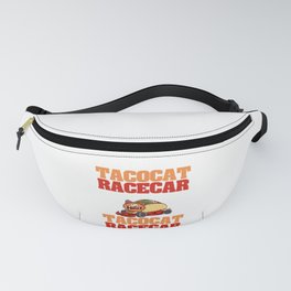 """Perfect Gift For Any Tacos Lovers """"Tacocat Racecar Spelled Backward Is Tacocat Racecar"""" T-shirt Fanny Pack"""