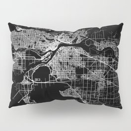 vancouver map canada Pillow Sham