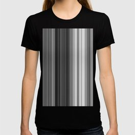 Black White Gray Thin Stripes T-shirt