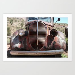 Truck Grill, Old Truck, Old Truck Grill Art Print