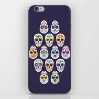 dia de los muertos iPhone & iPod Skins featuring Dia de los muertos by ewdondoxja