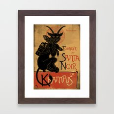 Merry Krampus Framed Art Print