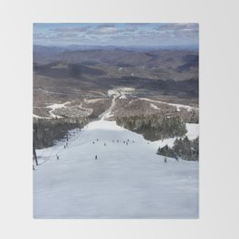 Skiing Superstar, Killington Throw Blanket