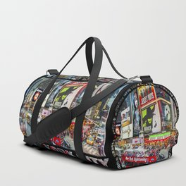 Times Square New York City Badge Duffle Bag