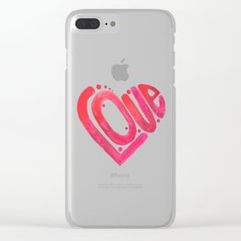 Love is the best medicine Clear iPhone Case