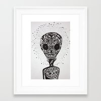 day of the dead Framed Art Prints featuring Day of the Dead by Mighty Truth