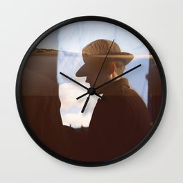 Man with hat Wall Clock