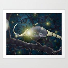 Dramatic Neuron Digital Painting Art Print
