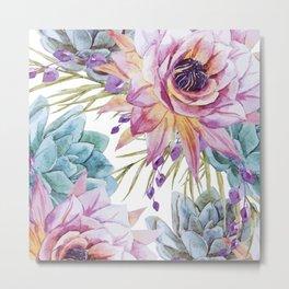 FLOWERS WATERCOLOR 19 Metal Print