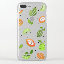 Papaya & Custard Apple Clear iPhone Case