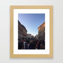 Vatican Streets Framed Art Print