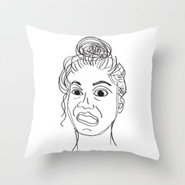 crayfie Throw Pillow
