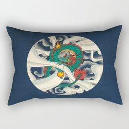 Minhwa: Asian Dragon with Magic Pearl F Type Rectangular Pillow