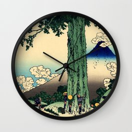 "Hokusai (1760–1849) ""Mishima Pass in Kai Province"" Wall Clock"