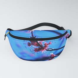 Feathery Red Blossoms Fanny Pack