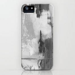 Paint (Black and White) iPhone Case