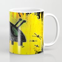 death star Mugs featuring Death Star Bug by TheCore