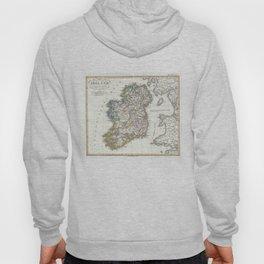 Vintage Map of Ireland (1841) Hoody