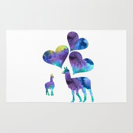 llama art Rug
