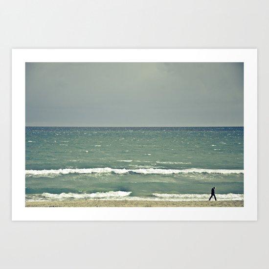near the sea Art Print