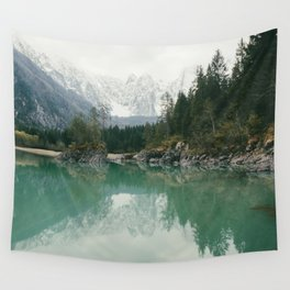 Turquoise lake - Landscape and Nature Photography Wall Tapestry